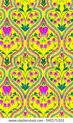 Seamless Art Nouveau Wallpaper Pattern Ornaments Stock Illustration ...