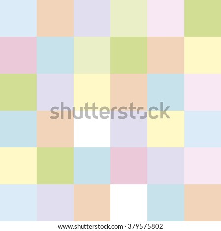 Seamless Background Colored Cubes Pastel Colors - stock photo
