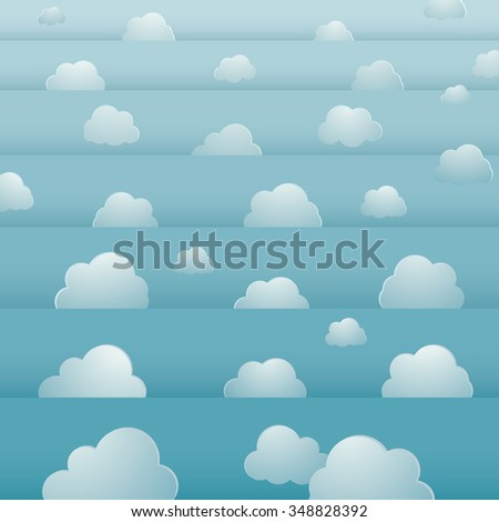 seamless background design with cloudy bright sky - stock photo