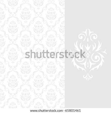 Seamless background from a floral ornament - stock photo