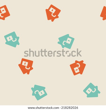 seamless background, home, house, building