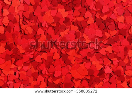 Seamless background made od small paper hearts, Valentines day concept