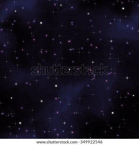 Seamless background space with stars. - stock photo
