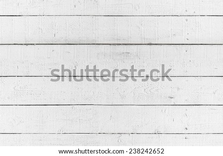 Seamless background texture of white wooden wall - stock photo