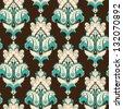 Seamless background. Vintage damask pattern. Raster copy of the vector. - stock photo