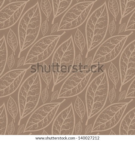 seamless background with abstract leaves