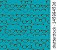 Seamless background with eyeglasses, Retro fashion pattern - stock photo