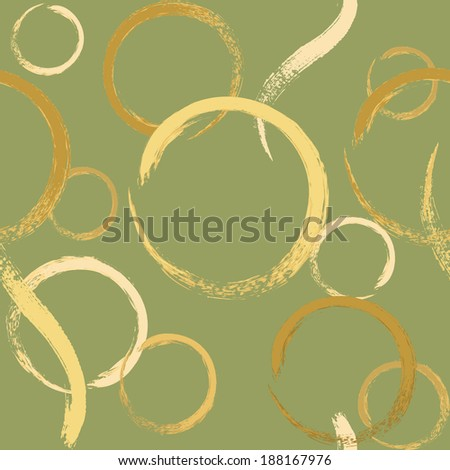 Seamless background with grunge brush circles. Raster version. - stock photo