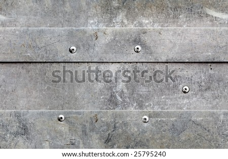 seamless banded grunge metal texture - stock photo