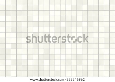 Seamless bathroom tiles mosaic texture background image. Realistic pattern. Beige  gray white color. - stock photo