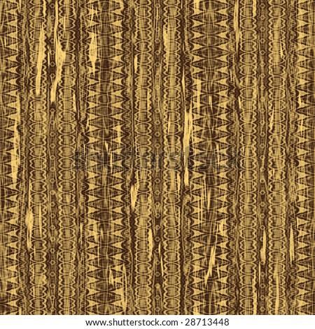 seamless batik brown fabric - stock photo