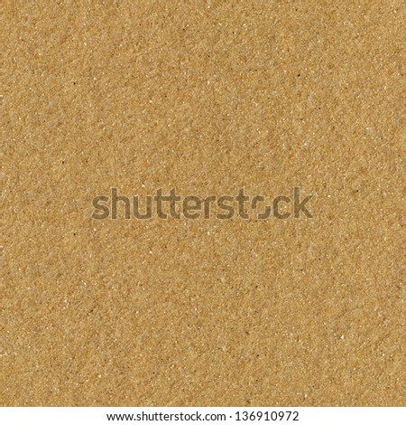Seamless beach yellow sand surface texture. - stock photo