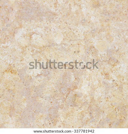 Seamless beige marble stone wall texture. Tiled cream marble background with natural pattern. - stock photo
