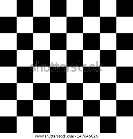 Seamless black and white checkered pattern for floor or chessboard - stock photo