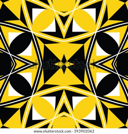 seamless black and yellow texture, abstract pattern, art illustration
