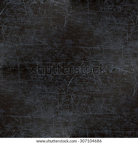 seamless black background, grunge destroyed surface, scratches  - stock photo
