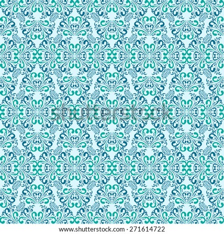 Seamless blue Wallpaper. Raster version. - stock photo