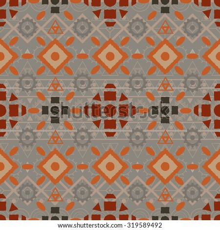 seamless boho  pattern tribal Navajo. Ethnic hipster backdrop. Aztec geometric print. illustration.