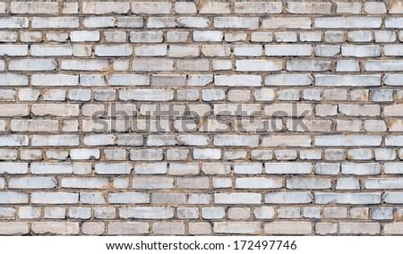 Seamless bricks. Tiled grey texture - stock photo