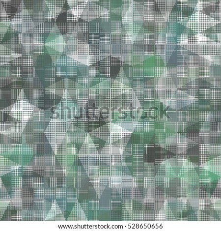 Seamless bright abstract mosaic blue and green background pattern with gloss. illustration beautiful.