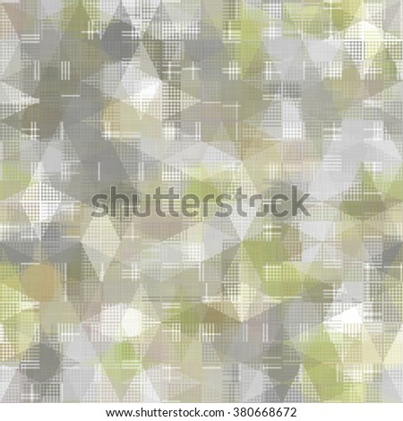Seamless bright abstract mosaic gold background pattern with gloss