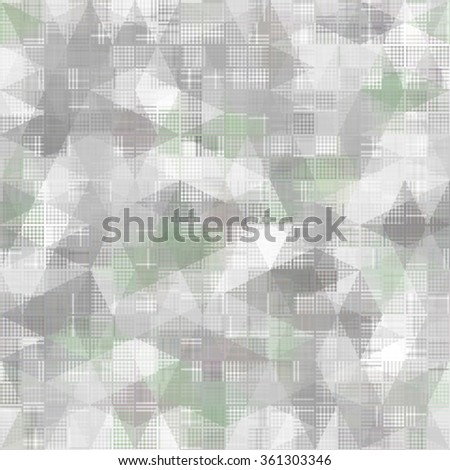 Seamless bright abstract mosaic grey background pattern with gloss