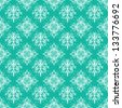 Seamless Bright Damask Pattern - stock photo