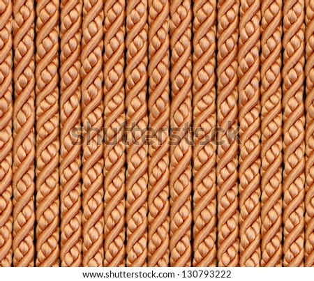 Seamless bright gold glamour ropes background, pattern, texture - stock photo