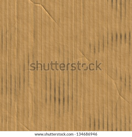 Seamless cardboard texture (computer graphic, big collection) - stock photo