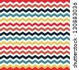 Seamless chevron background pattern - stock vector