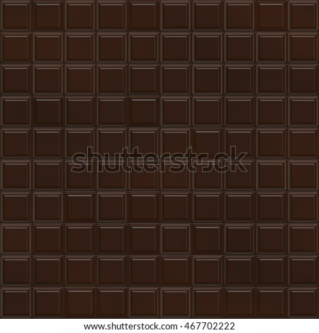 Seamless Chocolate Chip Carob Cocoa Bar Chunks Sections Pattern