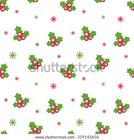 Seamless Christmas pattern. New Year theme. Background can be copied without any seams. Raster illustration. Winter endless texture can be used for printing onto fabric and paper or scrap booking.  - stock photo