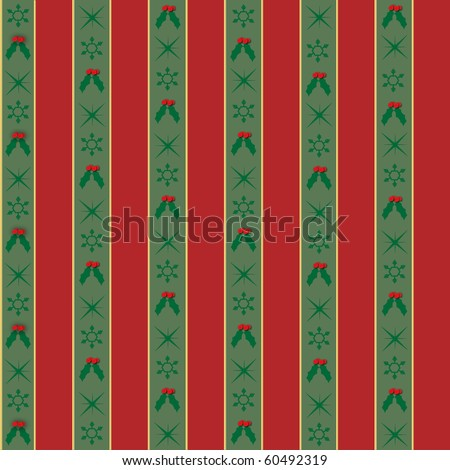 Seamless Christmas Wrapping Paper Background - stock photo