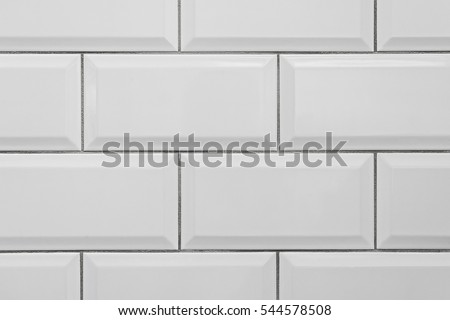 Seamless classic white metro ceramic tile stock photo 544578508 shutterstock - Lavish white and grey kitchen for hygienic and bright view ...