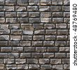 Seamless cobblestone path that works great for a a wall or stone pathway. - stock photo