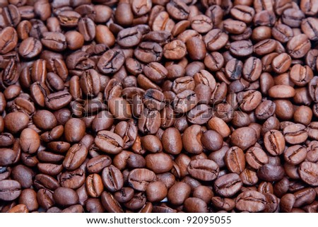 Seamless coffee background - stock photo