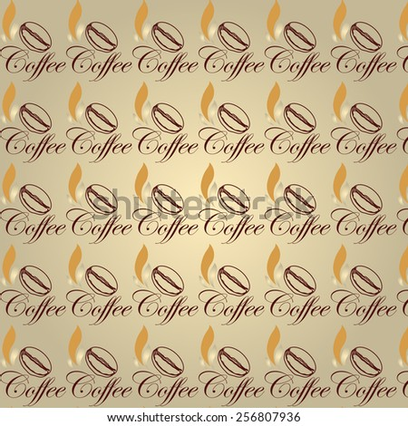 seamless coffee pattern,seamless coffee texture useful for wrapping papers,coffee sign - coffee cup - menu  - stock photo