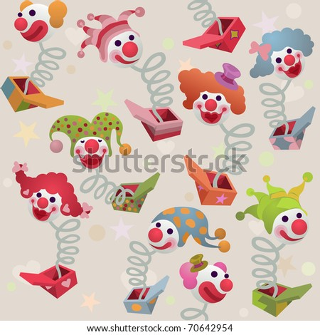 seamless cute jack in the box background - for vector version see image no. 69944476 - stock photo