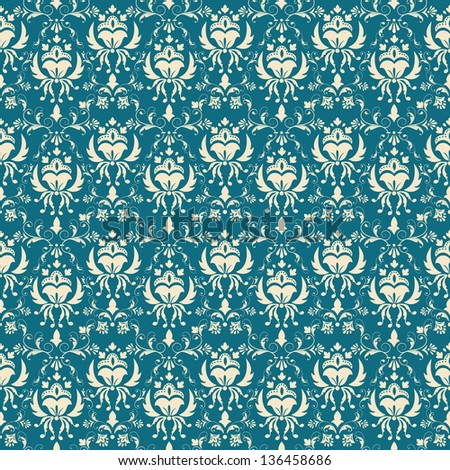 Seamless damask pattern. Elegant luxury texture for wallpapers, backgrounds and web page fill.