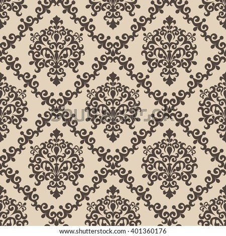 Seamless damask Pattern for Design. Raster version. - stock photo