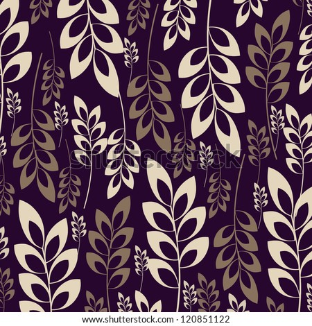 Seamless damask pattern for wallpaper design - stock photo