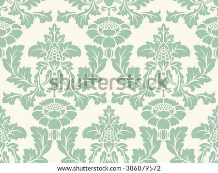 Seamless damask pattern. Ornate vintage background - stock photo