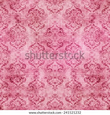 Seamless Damask Tapestry - stock photo