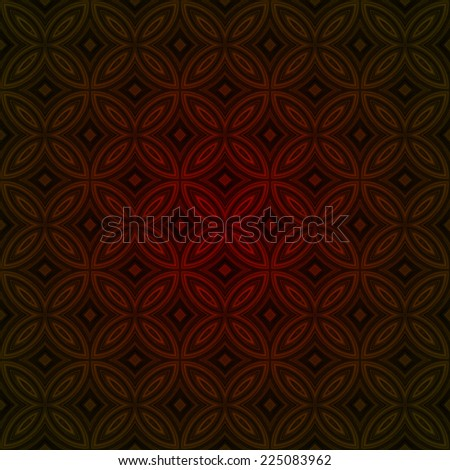 Seamless dark red vintage ornament texture wallpaper background with shadow in corners - stock photo