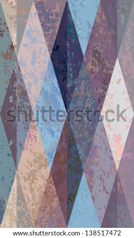 seamless decorative background in beige - light blue.  Raster version of vector file - stock photo