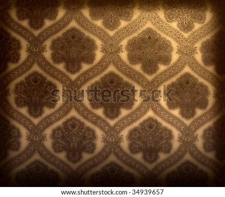Seamless decorative wallpaper - stock photo