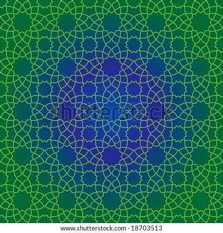 Seamless design of traditional Islamic geometric pattern - stock photo