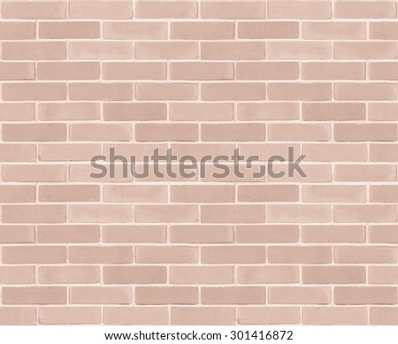 Seamless design vintage style light pastel red brown tone brick wall detailed pattern textured background: Seamless retro grungy brickwork masonry detail backdrop in red orange brown color tone      - stock photo