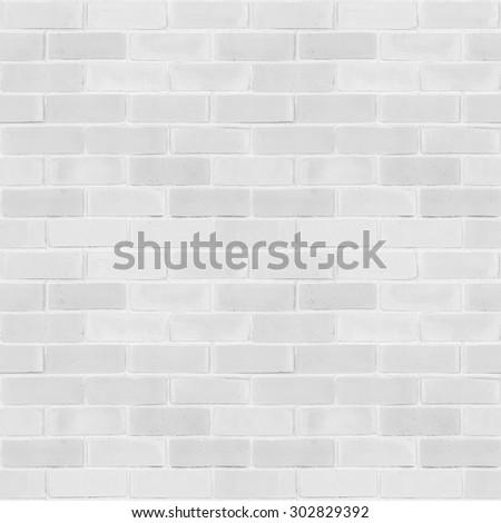Seamless design vintage style light white grey tone brick wall detailed pattern textured  background: Seamless retro grungy brickwork masonry detail square backdrop in white gray color tone - stock photo