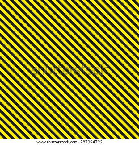 Seamless diagonal background caution pattern  illustration - stock photo